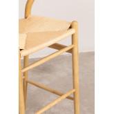 Sgabello alto con schienale in legno Uish, immagine in miniatura 5