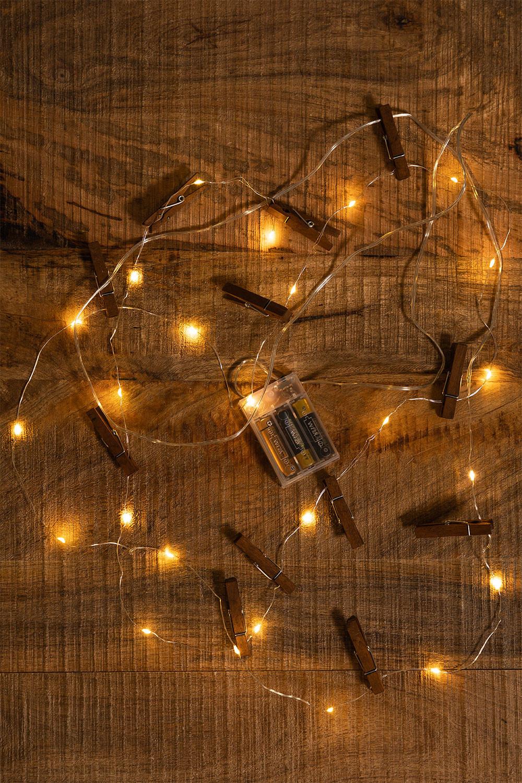 Ghirlanda decorativa a LED con pinze( 1,56 m) Pitres, immagine della galleria 1