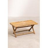 Tavolino rettangolare in bambù Samoa, immagine in miniatura 2