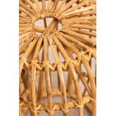 Sgabello basso decorativo in rattan Zierd, immagine in miniatura 3