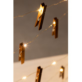 Ghirlanda decorativa a LED con pinze( 1,56 m) Pitres, immagine in miniatura 6