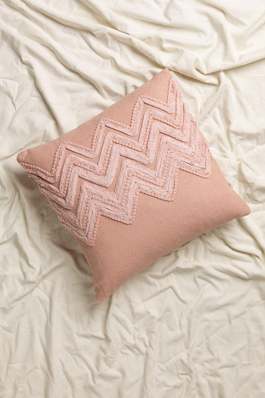 Cuscino con ricamo in cotone (45x45 cm) Mori, immagine della galleria 1