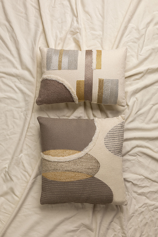 Cuscino in cotone con ricamo Aspen, immagine della galleria 1