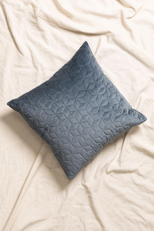 Cuscino quadrato in velluto (40 cm x40 cm) Sine, immagine della galleria 1