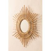 Specchio da parete rotondo in bambù (66x66 cm) Etual, immagine in miniatura 3