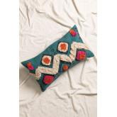 Federa cuscino in cotone Blu, immagine in miniatura 1