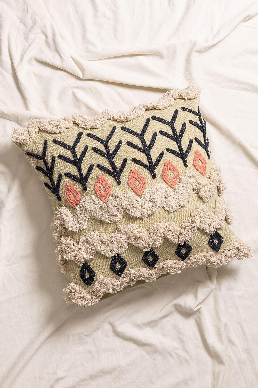 Federa Cuscino quadrato in cotone (50x50 cm) Inah, immagine della galleria 1