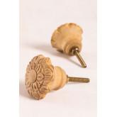 Set di 2 maniglie in legno Greta, immagine in miniatura 1