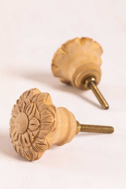 Set di 2 maniglie in legno Greta, immagine della galleria 1