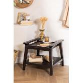 Tavolino Milen in legno di teak, immagine in miniatura 1