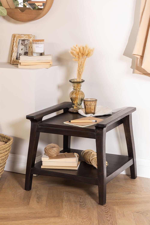 Tavolino Milen in legno di teak, immagine della galleria 1