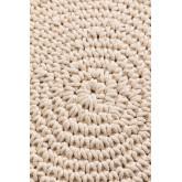 Pouf rotondo in cotone in macramè Kasia, immagine in miniatura 3