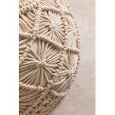 Pouf rotondo in cotone in macramè Kasia, immagine in miniatura 4