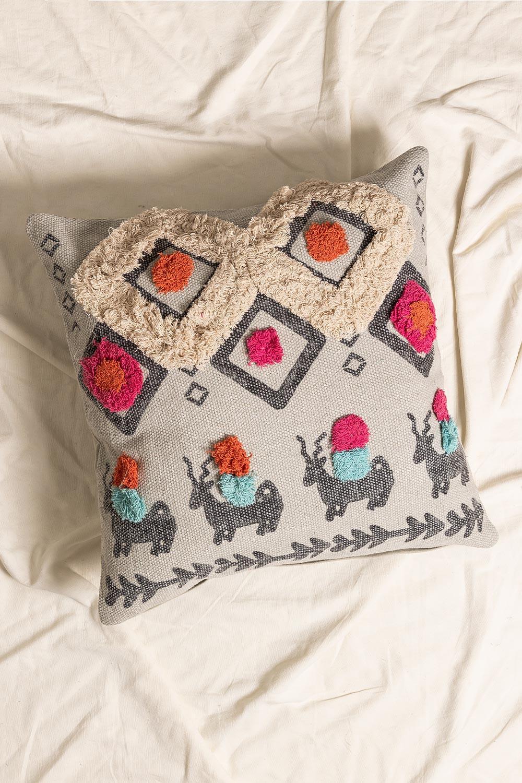 Federa cuscino in cotone Rehn, immagine della galleria 1