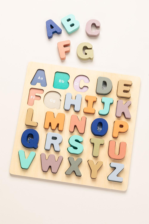 Puzzle con lettere di legno Zetin Kids, immagine della galleria 1