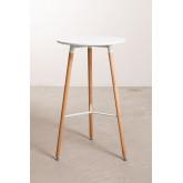 Tavolo alto rotondo in MDF e metallo (Ø60 cm) Royal Design, immagine in miniatura 3