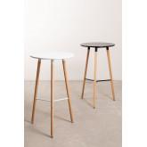 Tavolo alto rotondo in MDF e metallo (Ø60 cm) Royal Design, immagine in miniatura 6