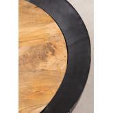 Tavolino rotondo in legno di mango e ferro (Ø90 cm) Muty, immagine in miniatura 3