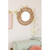 Specchio da parete in Bambù (Ø50 cm) Bleah , immagine in miniatura 1