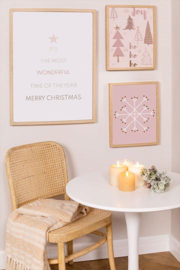Set di 3 fogli decorativi natalizi (50x70 e 30x40 cm) Belene