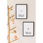 Set di 2 poster decorativi natalizi (30x40 cm) Santa, immagine in miniatura 1