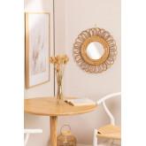 Specchio da parete rotondo in Bambù (Ø49 cm) Thail, immagine in miniatura 1