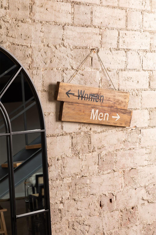 Segno di legno riciclato di genere, immagine della galleria 1