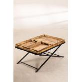 Tavolino con vassoi estraibili  (104x66,5 cm) Lohmi, immagine in miniatura 3