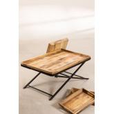 Tavolino con vassoi estraibili  (104x66,5 cm) Lohmi, immagine in miniatura 4