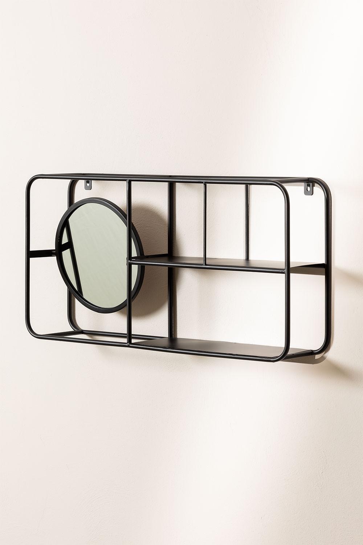 Scaffale in metallo con specchio Niver, immagine della galleria 1