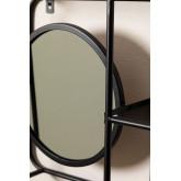 Scaffale in metallo con specchio Niver, immagine in miniatura 3