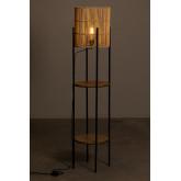 Lampada da terra con ripiani in bambù Loopa, immagine in miniatura 3