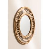 Specchio da parete in Bambù (Ø50 cm) Bleah , immagine in miniatura 2