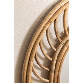 Specchio da parete in Bambù (Ø50 cm) Bleah , immagine in miniatura 3