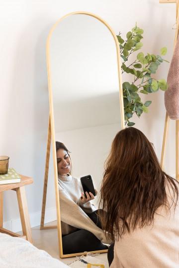 Specchio da terra in legno di pino (137x45,5 cm) Naty