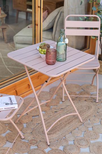 Tavolo Pieghevole per esterni quadrato in acciaio (60x60 cm) Janti