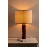 Lampada da Tavolo in Tessuto e Legno Lobra, immagine in miniatura 3