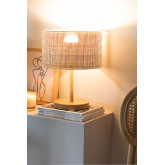 Lampada da Tavolo in Rattan e Metallo Bizay, immagine in miniatura 2