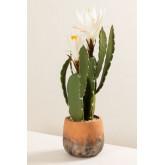 Cactus artificiale con fiori di Cereus, immagine in miniatura 2