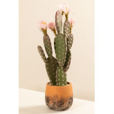 Cactus artificiale con fiori Opuntia, immagine in miniatura 2