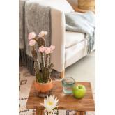 Cactus artificiale con fiori Opuntia, immagine in miniatura 1