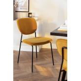Sedia da pranzo imbottita in velluto Taris, immagine in miniatura 1
