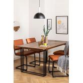 Tavolo da pranzo rettangolare in legno di mango (180x90 cm) Betu, immagine in miniatura 1