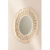 Specchio rotondo da parete in macramè (Ø70 cm) Karim, immagine in miniatura 2