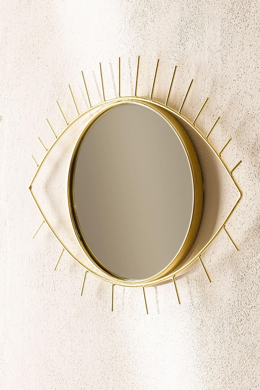 Specchio da parete in metallo Yuls, immagine della galleria 1