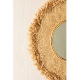 Specchio rotondo da parete in rafia (Ø55 cm) Deani, immagine in miniatura 3