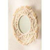 Specchio da parete rotondo in macramè (Ø35 cm) Adrien, immagine in miniatura 1