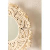 Specchio da parete rotondo in macramè (Ø35 cm) Adrien, immagine in miniatura 2