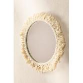 Specchio rotondo da parete in macramè (Ø40 cm) Colin, immagine in miniatura 1