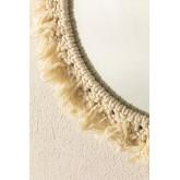 Specchio rotondo da parete in macramè (Ø40 cm) Colin, immagine in miniatura 4
